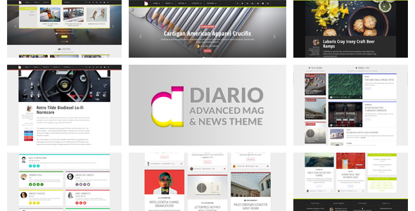 Diario: Modern and Responsive Magazine / Newspaper WordPress Theme ...